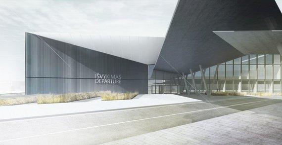 """""""Vilniaus architektūros studijos"""" vizualizacijos /Vilniaus oro uosto keleivinių terminalų rekonstrukcija"""