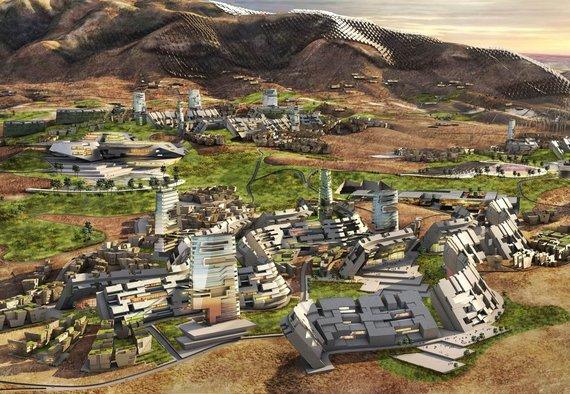"""""""Ehrlich Yanai Rhee Chaney Architects"""" ir """"Tom Wiscombe Architecture"""" vizualizacija/Suplanuotas naujas išmanus miestas JAV"""
