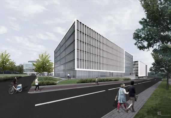 """""""Eventus Pro""""/""""M.M.M. projektai"""" Saltoniškių gatvėje suplanavo 4-tą biurų pastatą"""