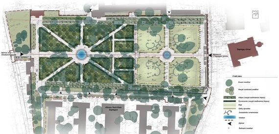 Vilniaus miesto savivaldybė/Atnaujintas Sapiegų parko planas