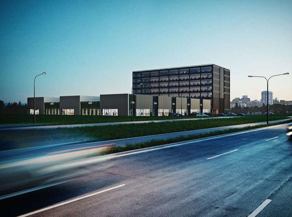 """""""DO Architects"""" /Mykolo Lietuvio gatvėje projektuojami prekybos ir administracinės paskirties pastatai"""