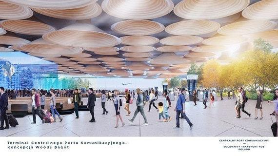 Woods Bagot/Architektų pasiūlymai Lenkijos oro uostui