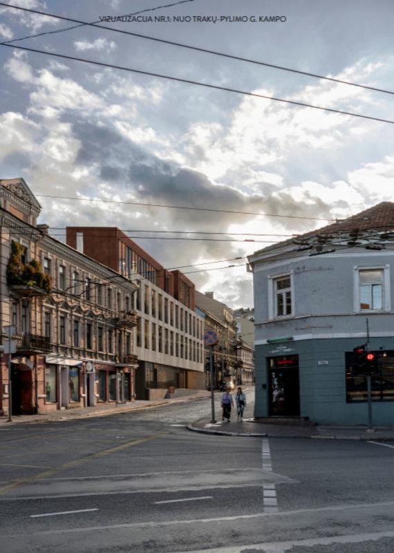 """""""Aketuri architektai""""/Planuojama pastato J.Basanavičiaus g. 4a rekonstrukcija"""
