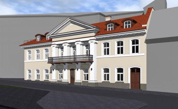 Bendrovės vizualizacija /Planuojama remontuoti pastatą Visų Šventųjų gatvėje