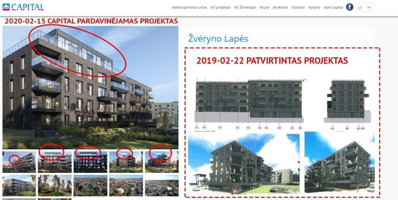 Ekrano nuotr./Daugiabučiai, dėl kurių Vilniaus meras kreipėsi į VVTAT