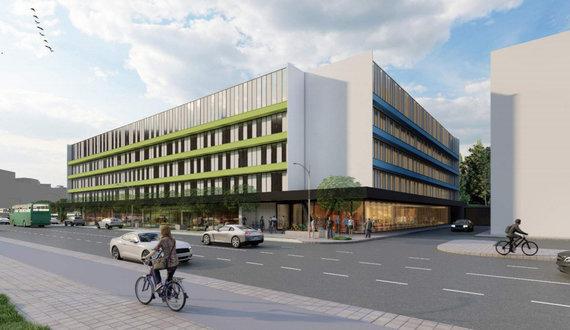 """""""Vilniaus architektūros studija""""/Prie sostinės prekybos centro """"Ozas"""" projektuojamas pastatas"""