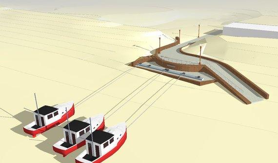 Organizatorių nuotr./Laivų ištraukimo ir įtraukimo į Baltijos jūrą stoties statybos projektas