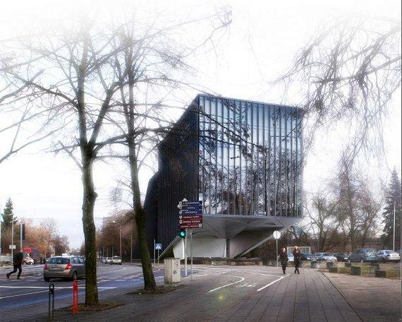 """""""Hanner"""" vizualizacija/Taip atrodys viešbutis Žalgirio stadiono vietoje"""