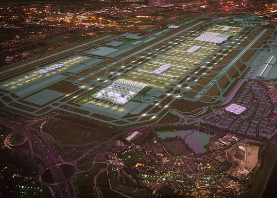 grimshaw-architects.com nuotr./Londono Hitrou oro uosto vizualizacija