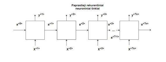 J.Stankevičiaus iliustr./Paprastojo RNN tinklo schema