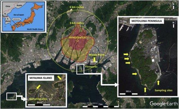 M.Wannierio iliustr./Motoujinos pusiasalis yra prie pat Hirošimos bombos sprogimo vietos