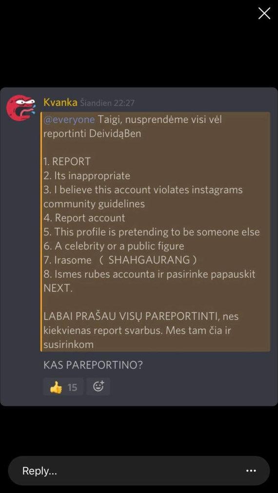 """M.Pareščiaus iliustr./Kvanka – vienas aktyviausių """"Instagram"""" paskyrų trynimo kurstytojų"""