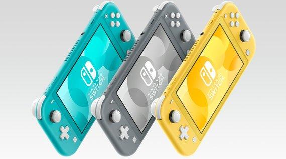 """Gamintojo nuotr./""""Switch Lite"""" galima rinktis turkio spalvos, pilką arba geltoną. Be šių, yra ir speciali versija, skirta """"Pokemon Sword"""" ir """"Shield"""" žaidimams."""