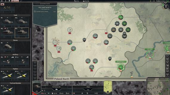 """A.Rumiancevo iliustr./Maksimaliai atitraukus kamerą žaidimo žemėlapis ima priminti klasikinius karo žaidimus. Beje, pamatinės """"Panzer Corps"""" taisyklės, panašaus pobūdžio stalo žaidimuose buvo naudojamos dar iki kompiuterių atsiradimo"""