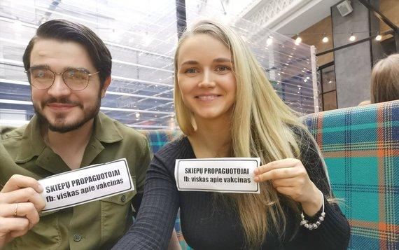 FB/Skiepų propaguotojų nuotr./Benediktas Jonuška, Vesta Kubiliūtė