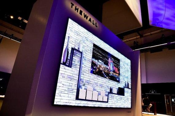 """Gamintojo nuotr./""""Samsung"""" televizorius """"The Wall"""""""