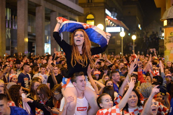 """""""Scanpix"""" nuotr./Po pergalės prieš anglus – šventė Zagrebo gatvėse ir parlamente"""