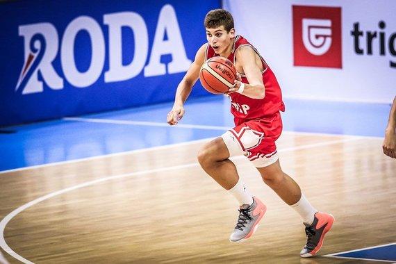 FIBA nuotr./Europos jaunimo (iki 16 metų) čempionato ketvirtfinalis:Roko Prkačinas.