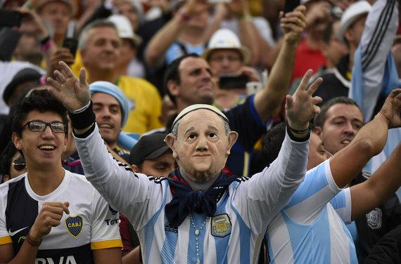 """""""Scanpix"""" nuotr./Argentinos rinktinės sirgalius"""