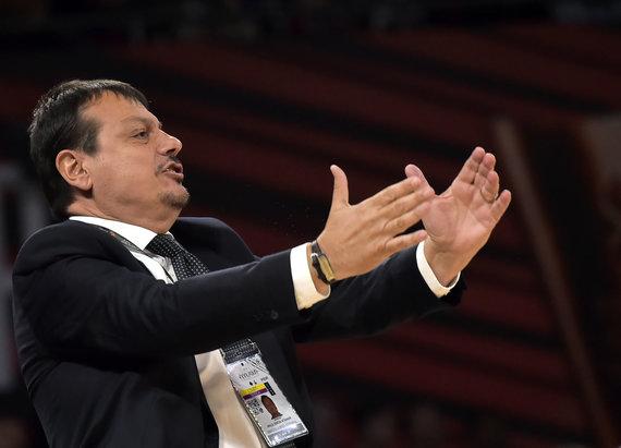 """Scanpix"" nuotr./Eurolygos finalo tarp Stambulo ""Anadolu Efes"" ir Maskvos CSKA akimirka."