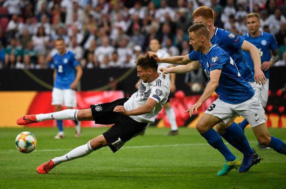 """""""Scanpix"""" nuotr./Estijos futbolininkai Vokietijoje buvo sutriuškinti 0:8."""