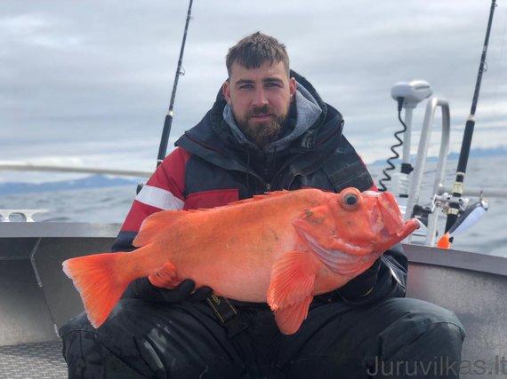 juruvilkas.lt archyvo nuotr./Jonas Valančiūnas žvejojo prie Norvegijos krantų.