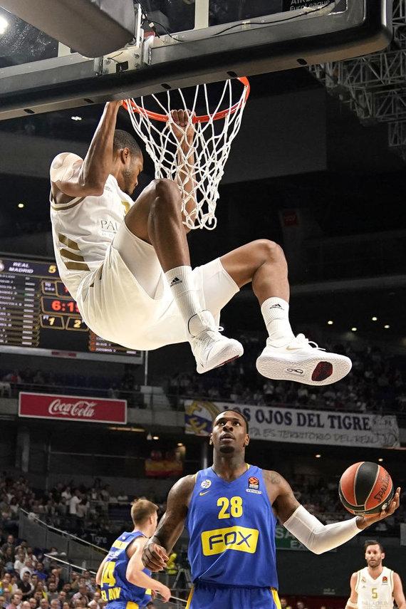 "Getty Images/Euroleague.net nuotr./Madrido ""Real"" – Tel Avivo ""Maccabi"" rungtynių akimirka. Anthony Randolphas"