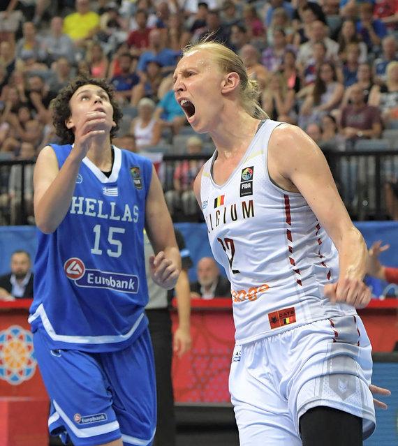 """""""Scanpix"""" nuotr./Belgijos krepšinio žvaigždė Ann Wauters."""