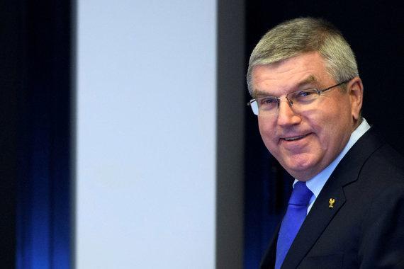 """Scanpix"" nuotr./Tarptautinio olimpinio komiteto (IOC) prezidentas Thomasas Bachas."