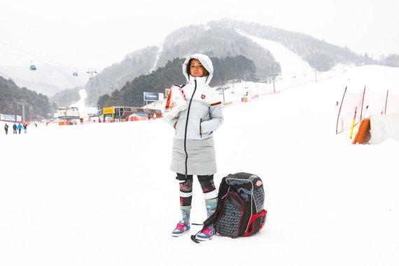 Ieva Januškevičiūtė vėl nestartavo – slalomo varžybos atšauktos dėl vėjo.