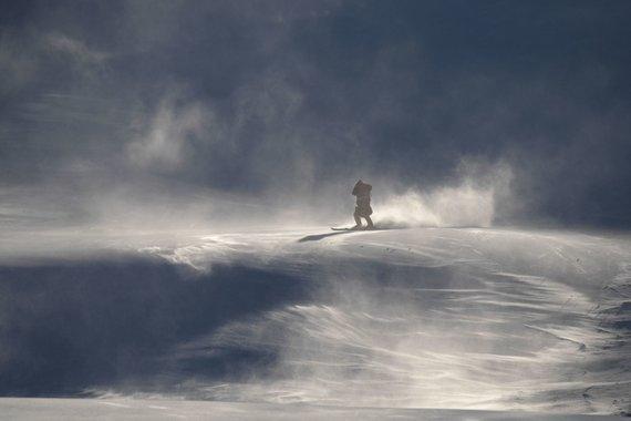 """""""Scanpix"""" nuotr./Stiprus vėjas ir šaltis siautėja Pjongčange, kur vyksta žiemos olimpinės žaidynės."""