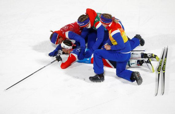 """""""Scanpix"""" nuotr./Norvegijos slidininkė Marit Bjoergen laimėjo tryliktąjį olimpinį medalį per karjerą."""