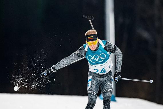 Vytauto Dranginio/LTOK nuotr./Tomas Kaukėnas liko 30-ias biatlono bendro starto lenktynėse.