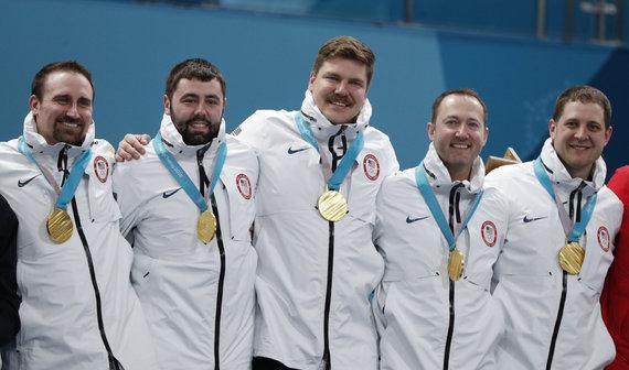 """""""Scanpix"""" nuotr./Amerikiečiai tapo kerlingo olimpiniais čempionais."""