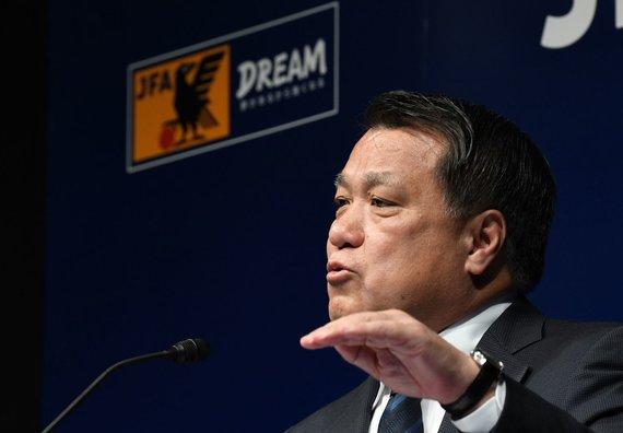 """""""Scanpix"""" nuotr./Japonijos futbolo federacijos vadovas Kozo Tashima"""