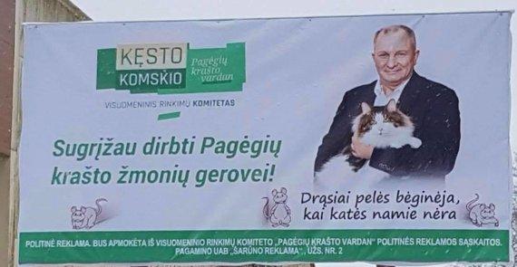 Kęsto Komskio politinė reklama