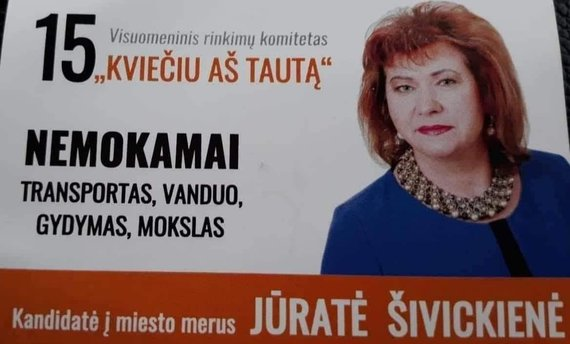 Jūratės Šivickienės politinė reklama