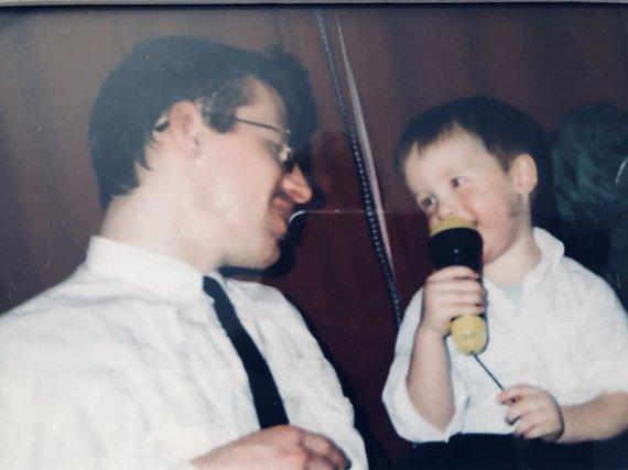 Asmeninio albumo nuotr./Linas Vaitkevičius ir jo tėtis Gintautas Vaitkevičius