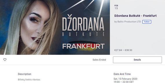 Ekrano nuotr./Džordanos Butkutės koncerto aprašas