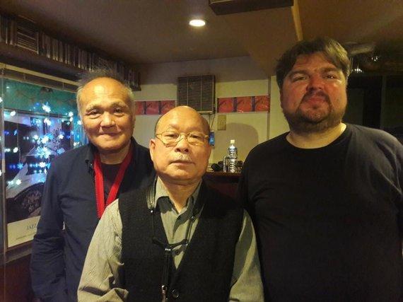 Asmeninio archyvo / Bernardinai.lt nuotr./Dešinėje – saksofonininkas Liudas Mockūnas, viduryje – Akira Sakata