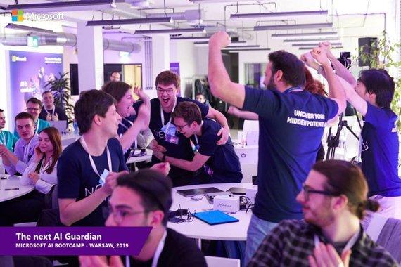 """Microsoft AI Bootcamps"" nuotr./""Nereus"" komanda"