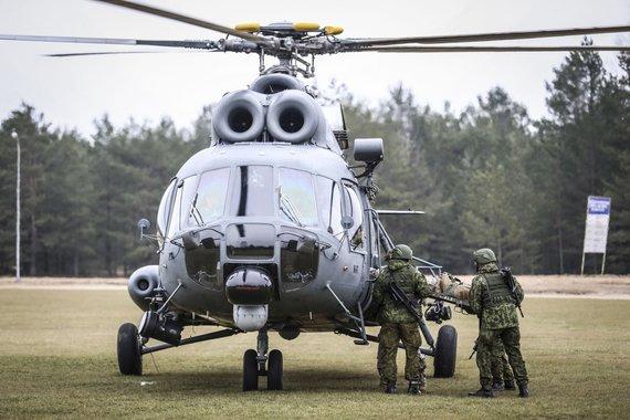 "Ievos Budzeikaitės nuotr./Sraigtasparnis ""Mi-8T"""