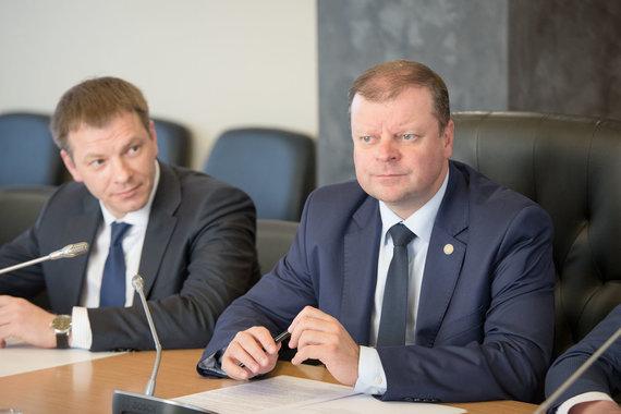 LRVK/ Dariaus Janučio nuotr./Vilius Šapoka ir Saulius Skvernelis