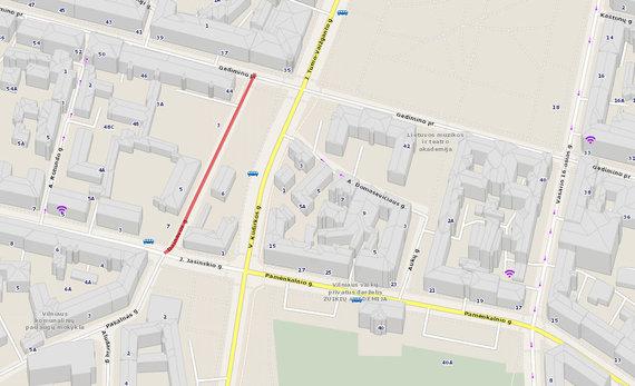 Maps.lt nuotr./Dainavos gatvė Vilniuje