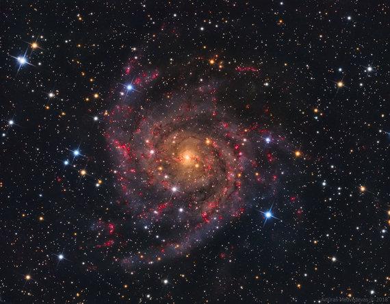"""Artūro Medvedevo nuotr./Artūro užfiksuota IC342 (""""Pasislėpusioji"""") galaktika"""