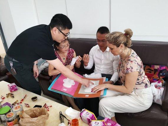Asmeninio archyvo nuotr./Vilmantė Markevičienė su kolegomis Kinijoje
