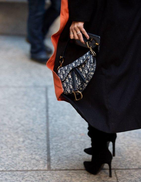 """Vida Press nuotr./""""Dior Saddle"""" rankinė"""