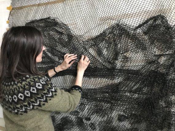 """Asmeninio archyvo nuotr./Silvijos darbai meno rezidencijoje """"Žuvies fabrikas"""""""