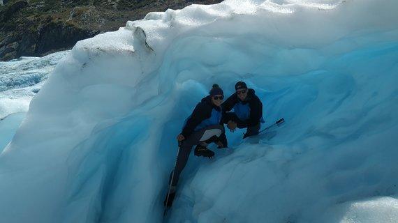 Asmeninio archyvo nuotr./Agnė ir Vaidas Lapės ledyno urve