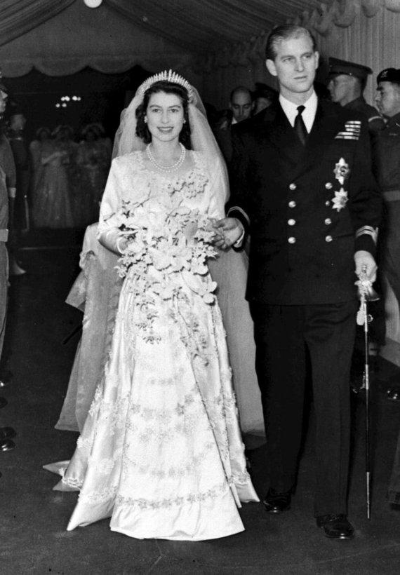 Vida Press nuotr./Karalienės Elžbietos II ir princo Philipo vestuvės (1947 m. lapkričio 20 d.)